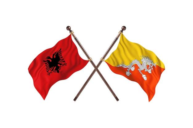 Albania kontra bhutan dwie flagi