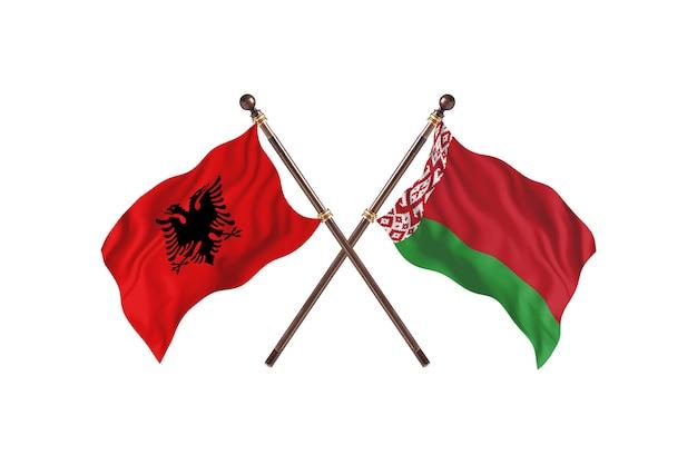 Albania kontra białoruś dwie flagi