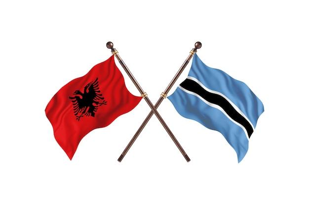 Albania kontra botswana dwie flagi