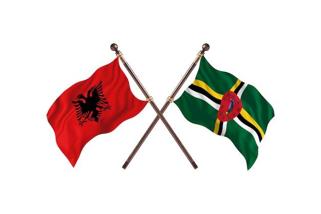 Albania kontra dominika dwie flagi