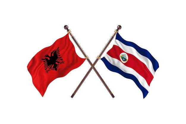 Albania kontra kostaryka dwie flagi