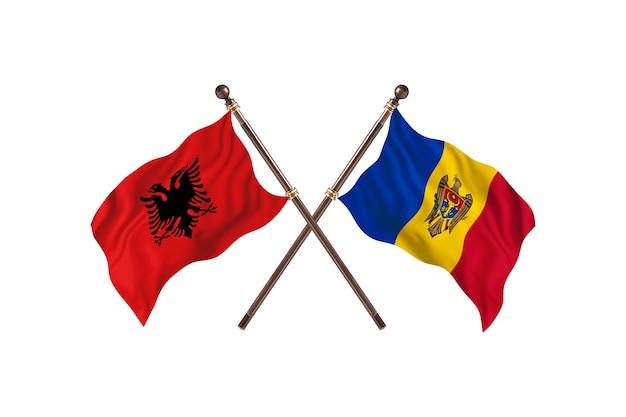Albania kontra mołdawia dwie flagi