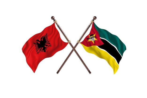 Albania kontra mozambik dwie flagi