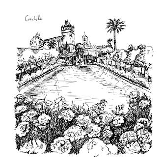 Alcazar de los reyes cristianos, cordoba, hiszpania