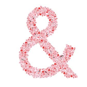 Alfabet kwiatów sakury