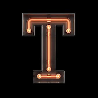 Alfabet światła neonowego t
