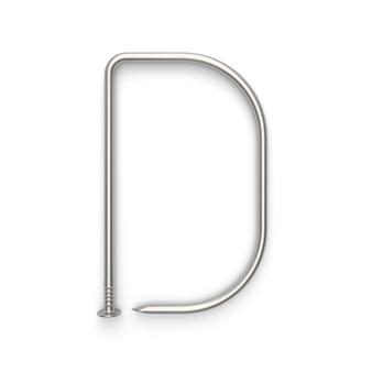 Alfabet z gwoździa