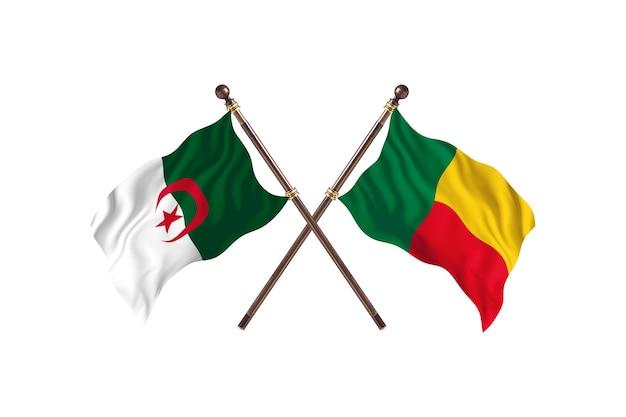 Algieria kontra benin dwie flagi