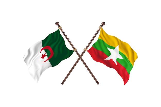 Algieria kontra birma dwie flagi