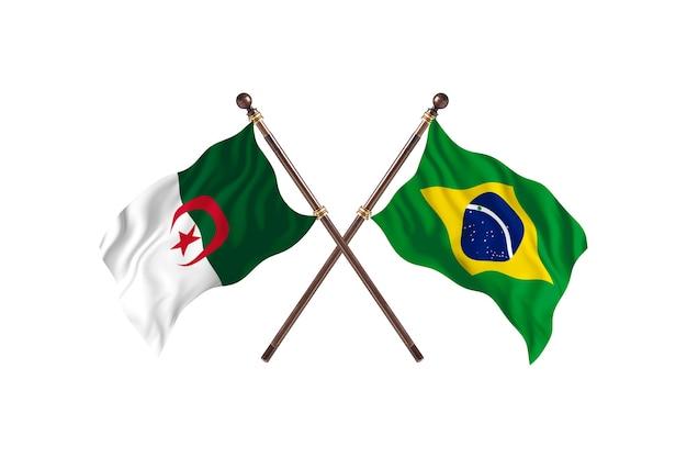 Algieria kontra brazylia dwie flagi