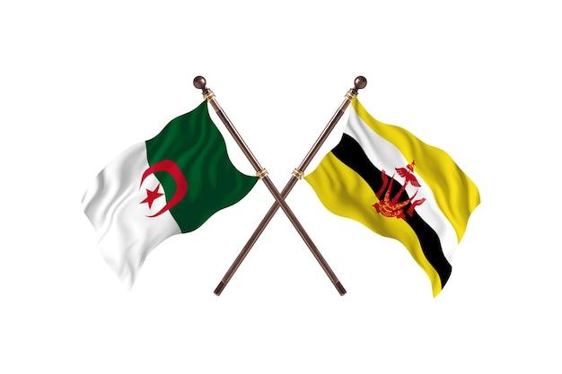Algieria kontra brunei dwie flagi