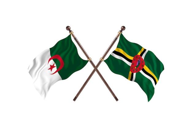 Algieria kontra dominika dwie flagi