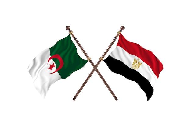 Algieria kontra egipt dwie flagi