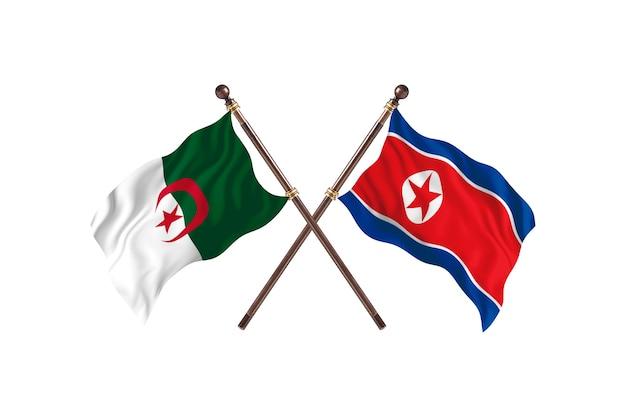 Algieria kontra korea północna dwie flagi