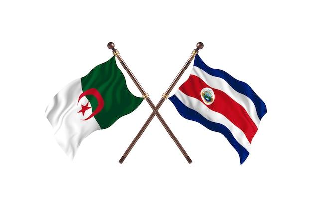 Algieria kontra kostaryka dwie flagi