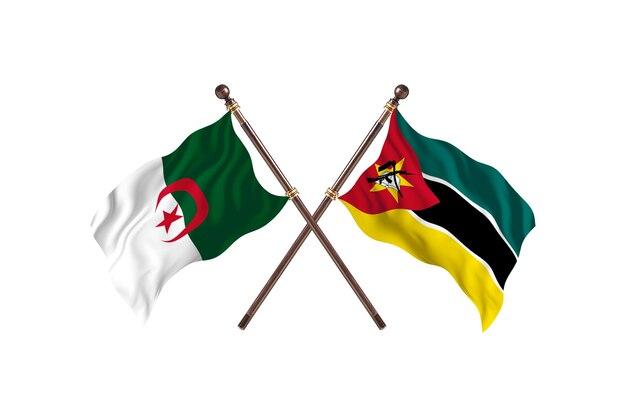 Algieria kontra mozambik dwie flagi