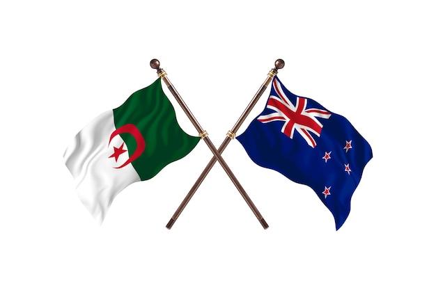 Algieria kontra nowa zelandia dwie flagi