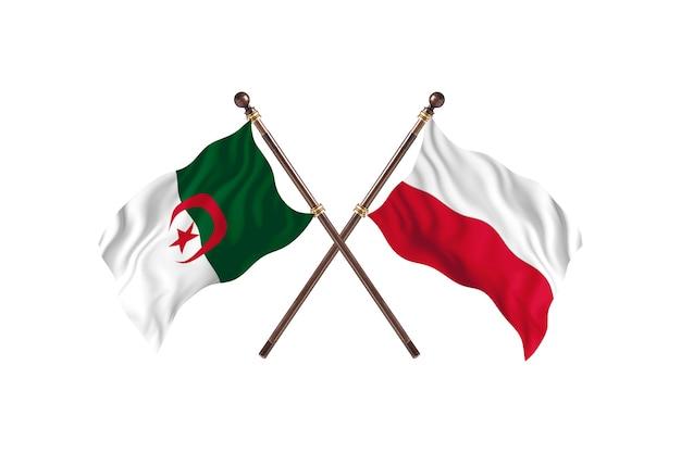 Algieria kontra polska dwie flagi