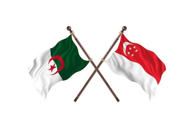 Algieria kontra singapur dwie flagi
