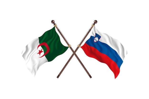 Algieria kontra słowenia dwie flagi
