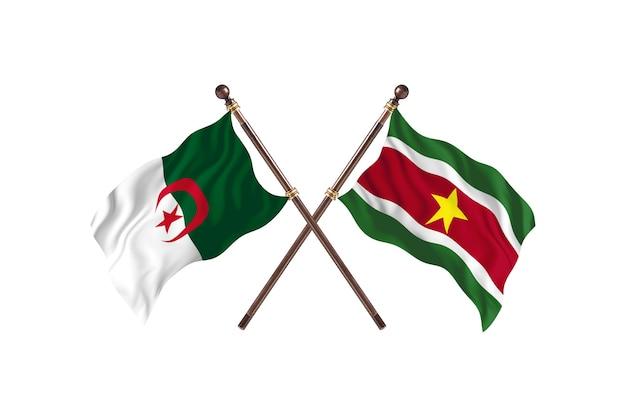 Algieria kontra surinam dwie flagi