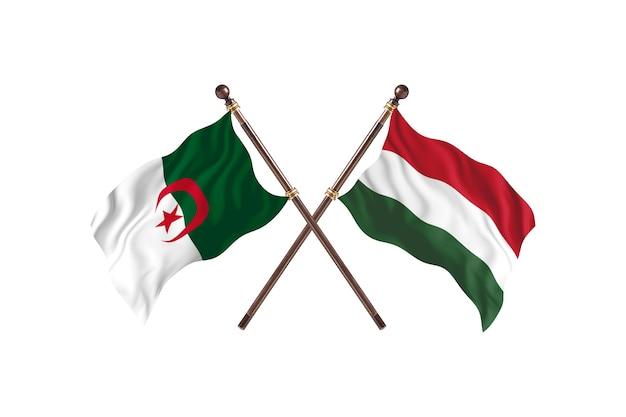 Algieria kontra węgry dwie flagi