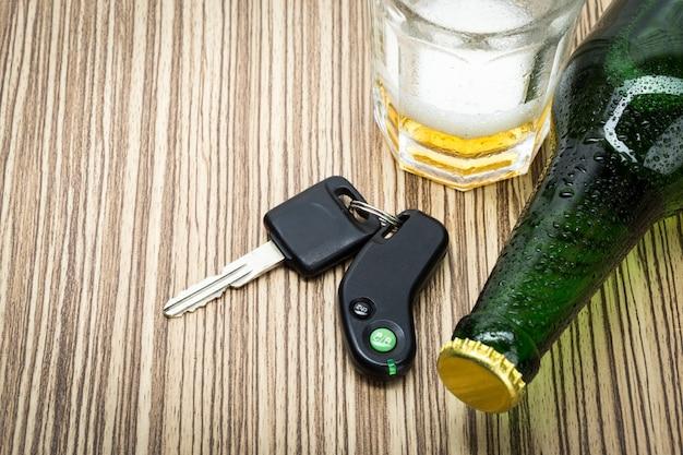 Alkohol i kluczyki do samochodu