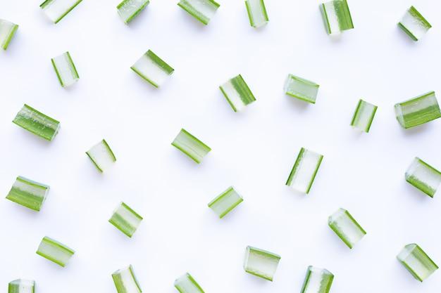 Aloe vera pocięte na biało