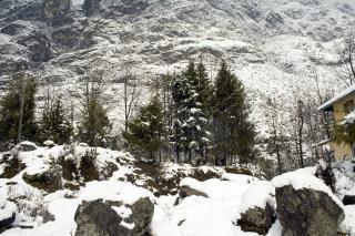 Alpejski widok, himalaje