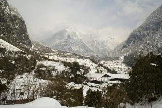Alpejski widok, woda