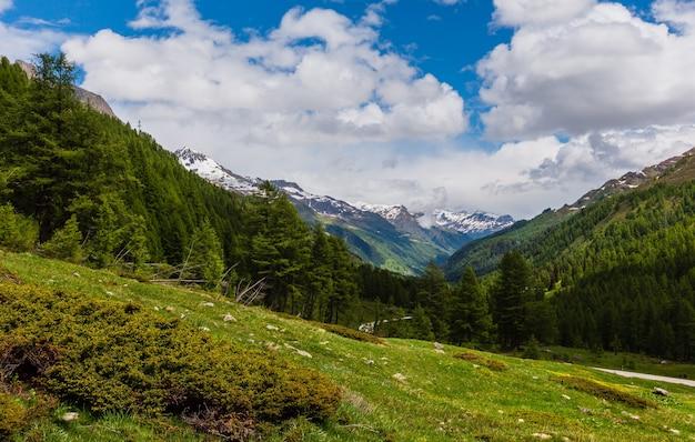 Alpy góra passo del san gottardo lub st