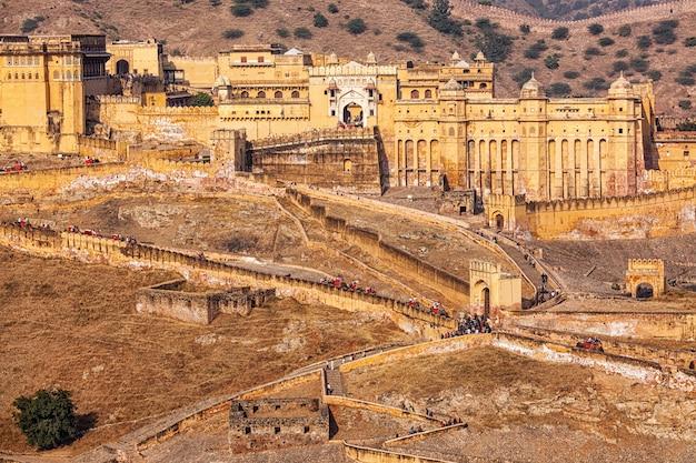 Amer amber fort, radżastan, indie
