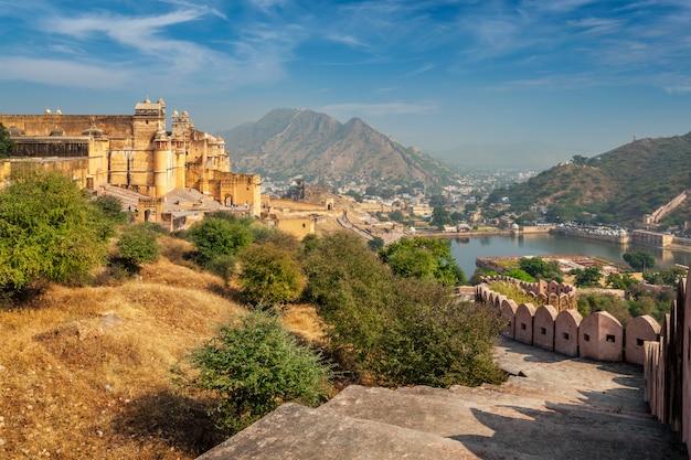 Amer znany również jako amber fort, radżastan, indie