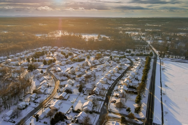 Ameryka spokojny krajobraz śnieg niesamowite zimowe krajobrazy zachód słońca
