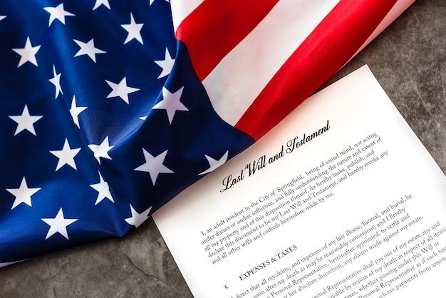 Amerykańscy podatnicy muszą płacić podatki, kiedy składają dokument ostatniej woli.