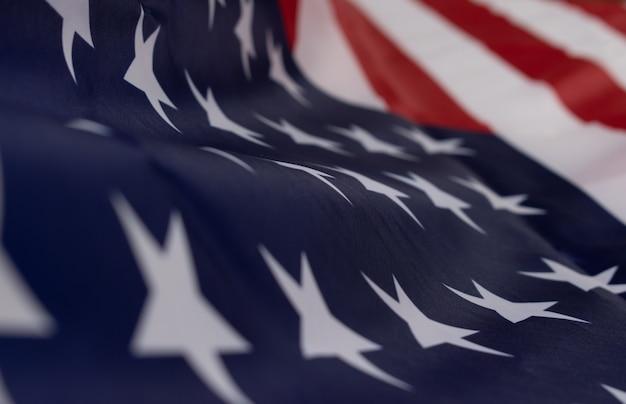 Amerykańska flaga tło na dzień pamięci lub 4 lipca, dzień niepodległości.