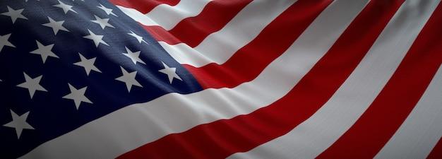 Amerykańska oficjalna flaga.