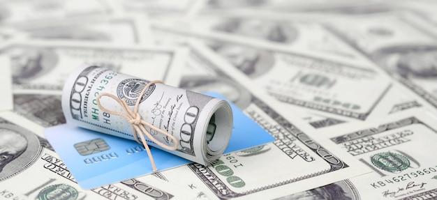 Amerykańskie pieniądze i koncepcja nowoczesnej wirtualnej bankowości online