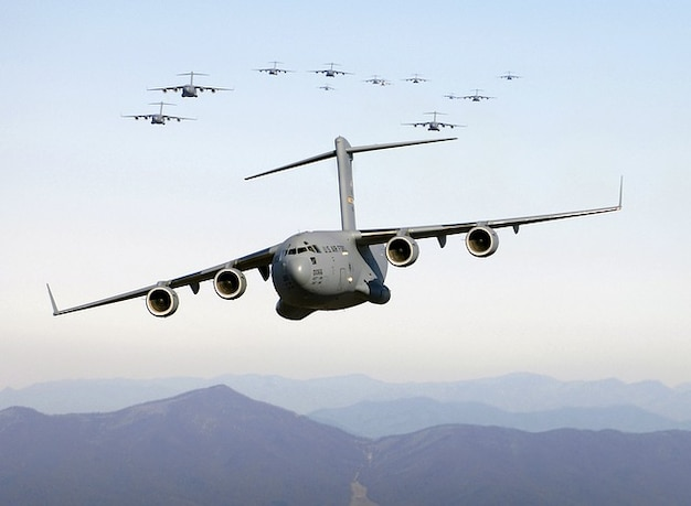 Amgriff bombowiec wojskowy samolot transportowy