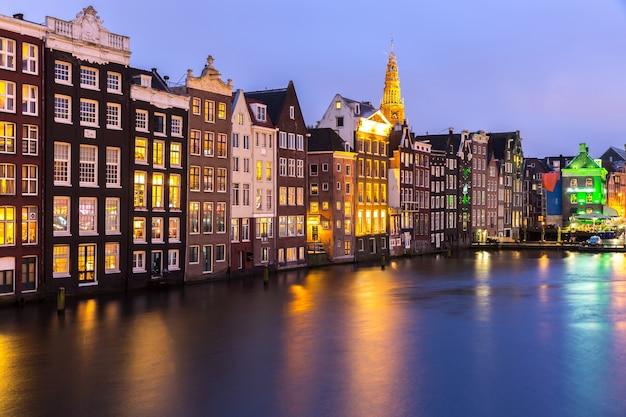 Amsterdam o zmierzchu