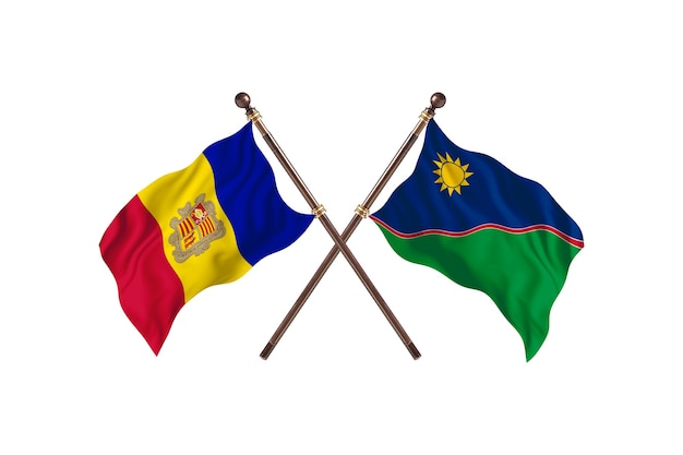 Andora kontra namibia dwa kraje flagi w tle