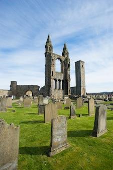 Andrew katedra w szkocja na słonecznym dniu