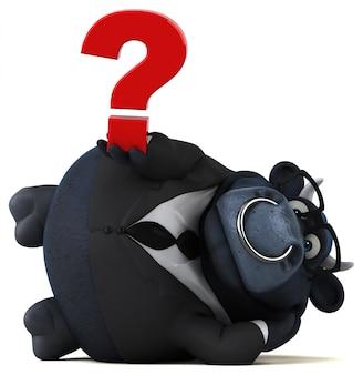 Animacja czarnego byka
