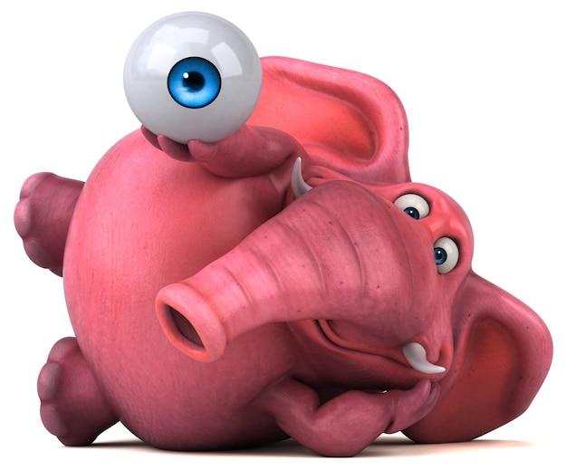 Animacja różowego słonia