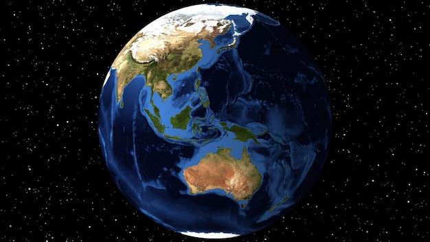 Animacja z wykorzystaniem zdjęć satelitarnych (nasa).