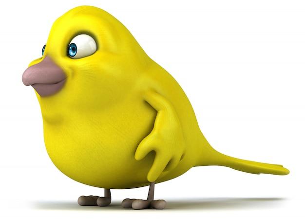 Animacja żółtego ptaka