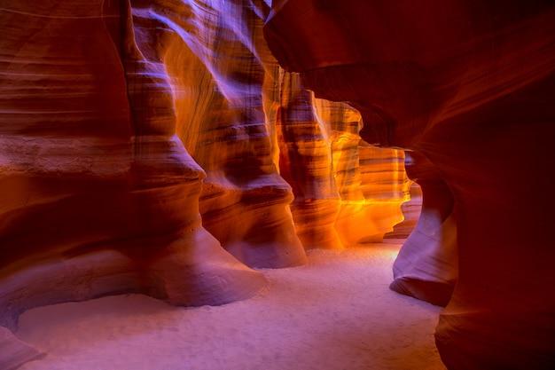 Antelope canyon arizona na ziemi navajo w pobliżu page