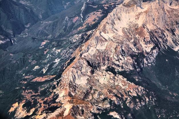 Antena krajobraz zielonych gór