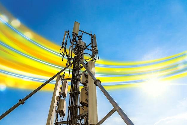 Antena telefoniczna, z sygnałem telefonicznym 5g