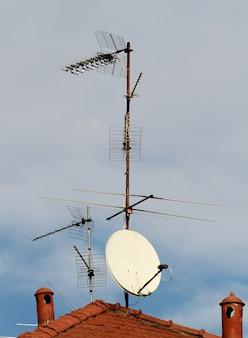 Anteny telewizyjne na dachu